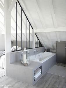 suite parentale avec salle de bain sous comble With salle de bain design avec décoration combles aménagés