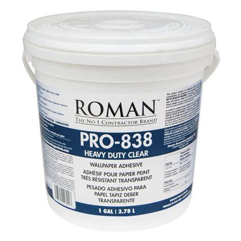 Roman Pro838 1 Gal Heavy Duty Clear Wallcovering
