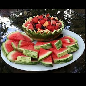 Quick easy watermelon bowl fruit salad! | Watermelon ...