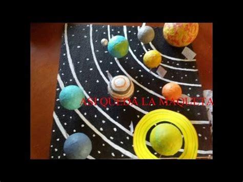 maqueta del sistema solar doovi