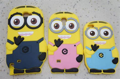 3d despicable me 2 minion silicone cover for iphone 4 4s 5 5c 5s s3 s4 note2 note3 cheap
