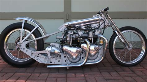 Twin Engine Motorcycle Dragster Stage Fright Triumph