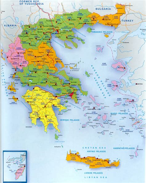 maps  greece greece map