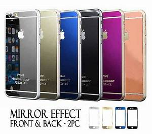 Front & Back Color Mirror Tempered Glass Screen Protector ...