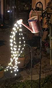 Large Fairy Lights Outdoor Diy Watering Can Fairy Lights Diy Projects For Everyone