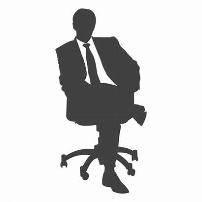 Silhouette Sitting Business Executive Transparent Silhouettes Svg