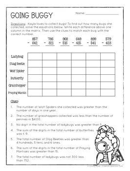Math crossword puzzle # 12 various math formulas and measurements. Math Logic Puzzles: 2nd grade Enrichment - Digital & Printable PDF