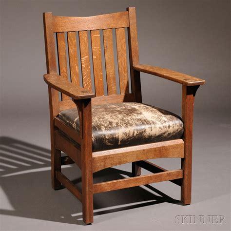 Sale Armchairs by L J G Stickley Armchair Sale Number 2661b Lot