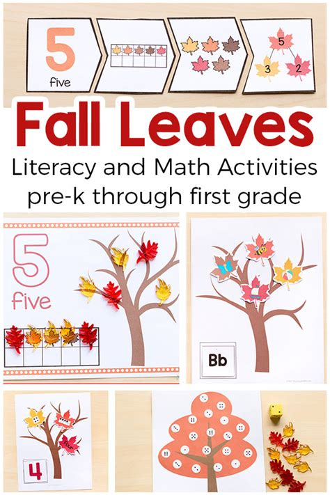 Fall Printable Activities For Prek And Kindergarten