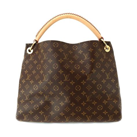 auth louis vuitton monogram artsy mm hand bag  purse