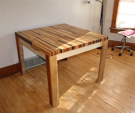 butcher block hardwood table  steps  pictures
