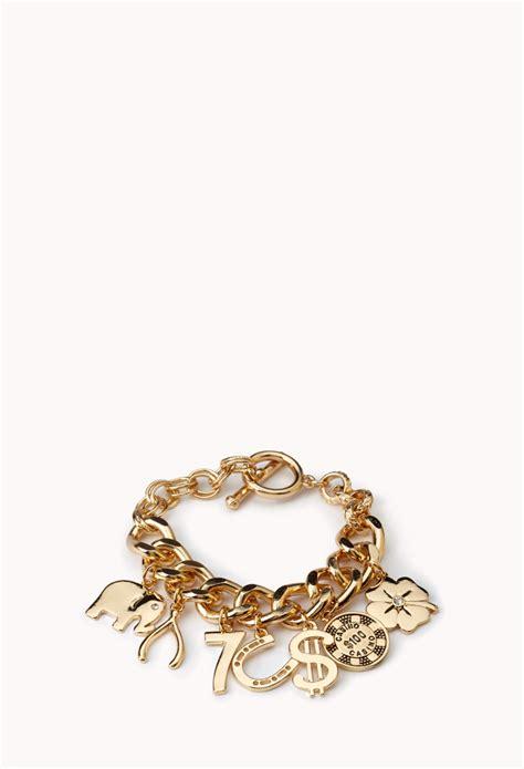 Forever 21 Get Lucky Charm Bracelet in Metallic