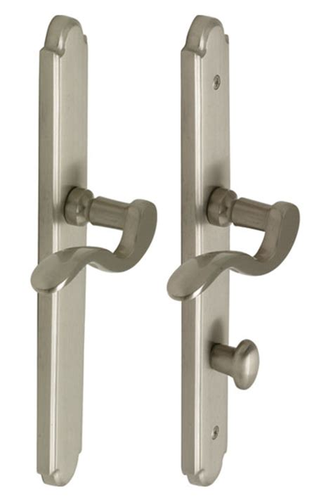 pella patio door hardware sets coated in pewter and