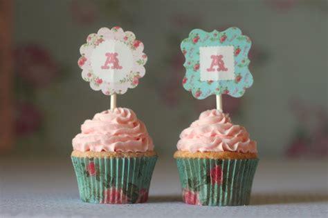 shabby chic cupcake monnogram shabby chic rose printable cupcake toppers the homespun hostess