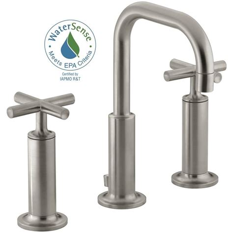 kohler purist 8 in widespread 2 handle bathroom faucet in