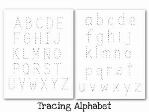 Manuscript Uppercase and Lowercase Tracing Guide - Nuttin ...