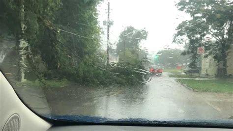 severe thunderstorms leaves damage   metro