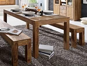 Holztisch Mit Metallgestell : whitney massivholz esstisch sheesham gebeizt 160x90 cm ~ Lateststills.com Haus und Dekorationen