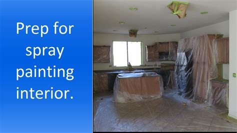 Painting A House Interior by Spray Painting A House Interior