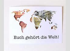 Geldgeschenk Hochzeit Weltkarte Vorlage Printablehd