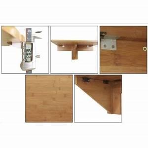 Table Murale Cuisine : sobuy fwt031 n table murale rabattable en bambou table pliable de cui ~ Teatrodelosmanantiales.com Idées de Décoration