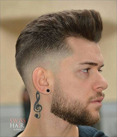 slope fade haircut cool hairstyles  men mid fade