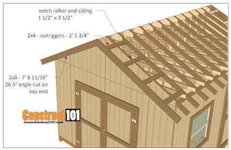 shed plans gable design woodworking projects