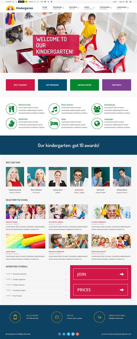 Joomla Org Templates Joomla Education V1 0 1 Template Educational