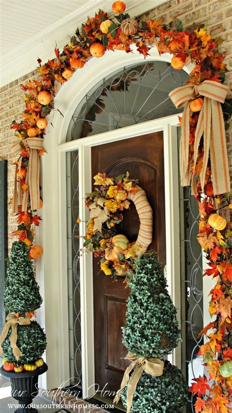 fall garland ideas 7 front door decorating ideas for instant fall curb appeal