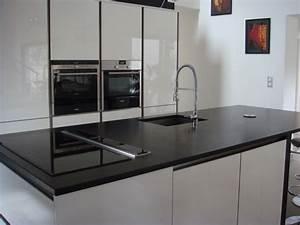 Cuisine granit noir for Decoration pour jardin exterieur 5 cuisine quartz noir