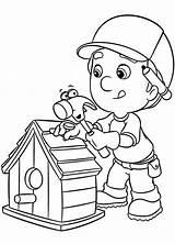 Coloring Manny Handy Bird Making Colorare Disegni Tuttofare Cartoni Stampare Bambini Animati Facili Completare Pronta Ra Lo Paginainizio Coloracartoni Dei sketch template