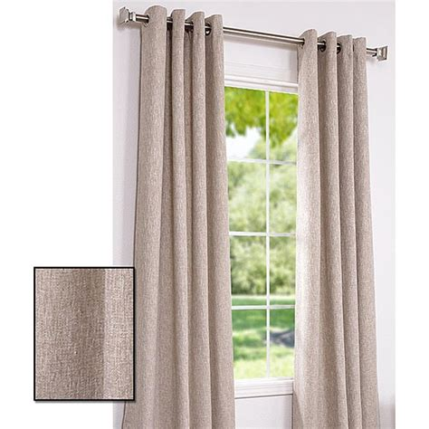 96 Inch Grommet Curtains by Exclusive Fabrics Oatmeal Cotton Linen 96 Inch Grommet