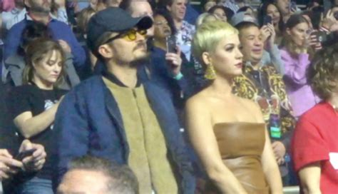 Katy Perry & Orlando Bloom Attend Lady Gaga's Opening