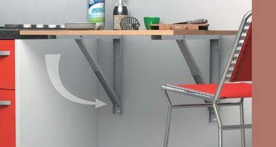 table de cuisine retractable espace repas dans la cuisine conseils déco aménagement
