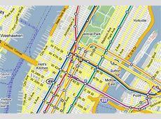 nyc subway map street overlay