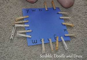 clothespin letter matching from scribble doodle and draw With clothespin letters