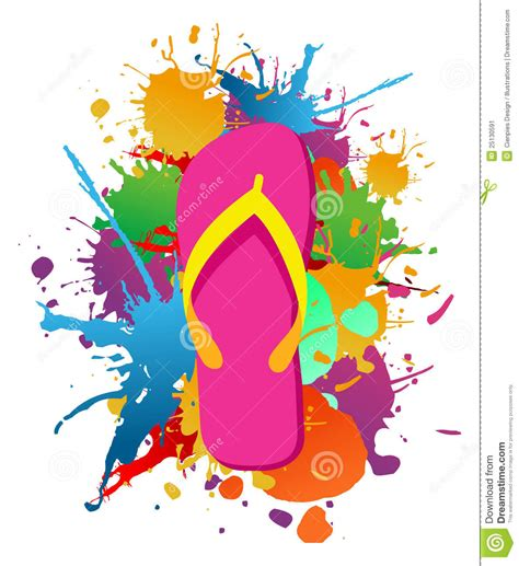 flip flops paint splash background stock image image