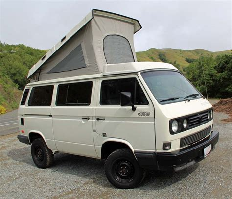 volkswagen vanagon salvaged syncro 1990 vw vanagon westfalia cer auction