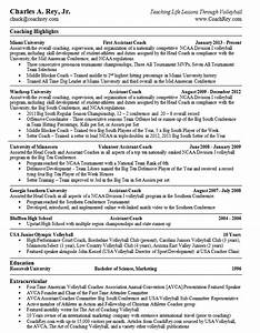resume volleyball coach chuck rey volleyball blog With college coach resume