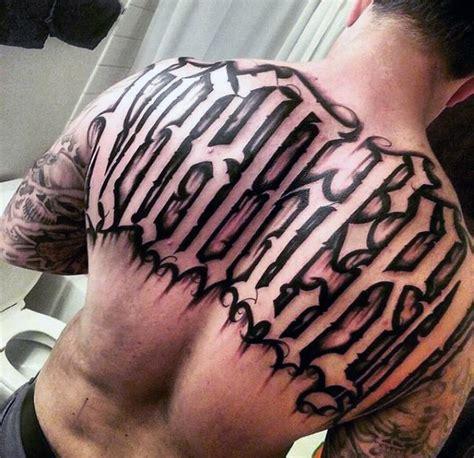 english tattoos  men retro font ink design ideas