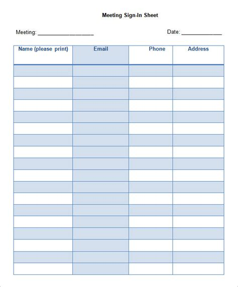 free sign in sheet template 75 sign in sheet templates doc pdf free premium templates