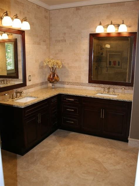 corner double vanity home design ideas pictures remodel