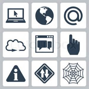 Vector isolated internet-related icons set   Vector ...
