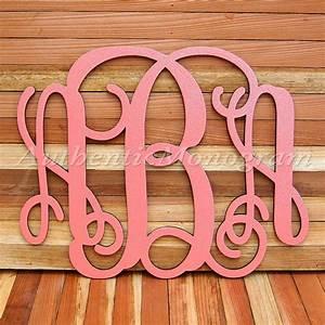 custom three letter vine wooden monogramauthenticmonogramcom With wooden monogram letters wholesale