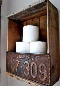 Bois Pour Salle De Bain : id e d coration salle de bain caisse en bois deco pour etagere wc et meuble salle de bain pas ~ Melissatoandfro.com Idées de Décoration