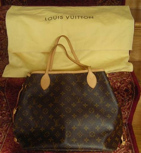louis vuitton neverfull mm tote    dust bag