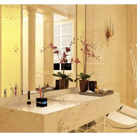 gold porcelain tiles bathroom wall backsplash glazed