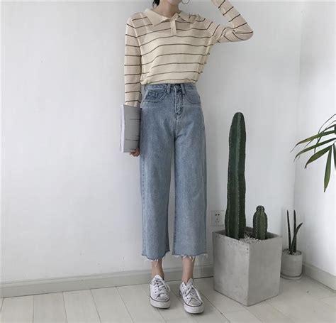 itgirl shop boyfriend oversized blue denim high waist jeans
