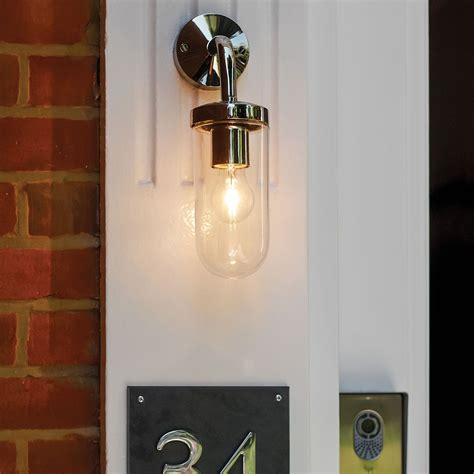 astro tressino s polished nickel outdoor wall light at uk