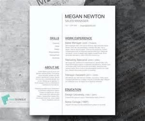 free clean resume templates word simple resume designs